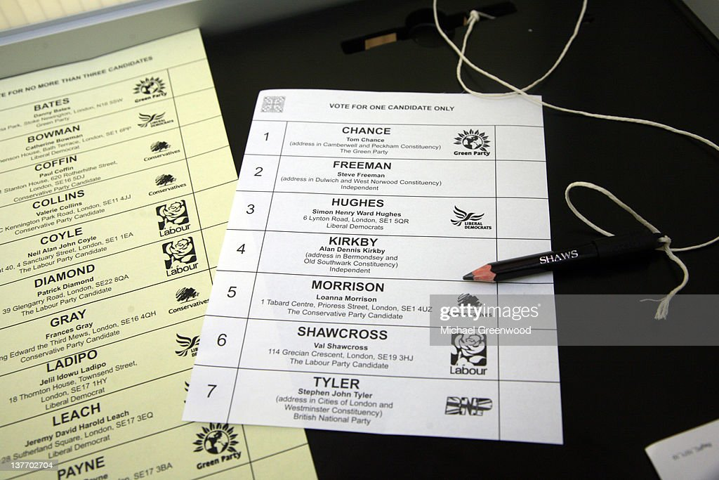 Election Day, Ballot papers. : News Photo