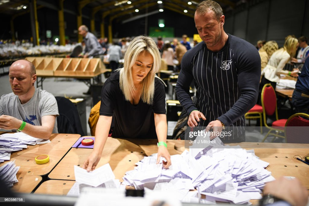 Votes Are Counted In Ireland's Abortion Referendum