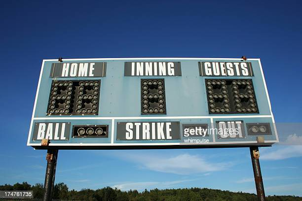ballpark - scoreboard 03 - scoreboard stock pictures, royalty-free photos & images