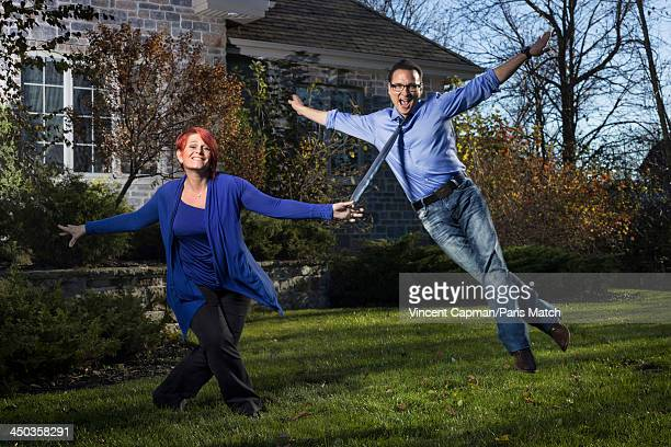 Ballroom dance champion, choreographer and television personality Jean-Marc Genereux is photographed with his wife France Mousseau at home for Paris...