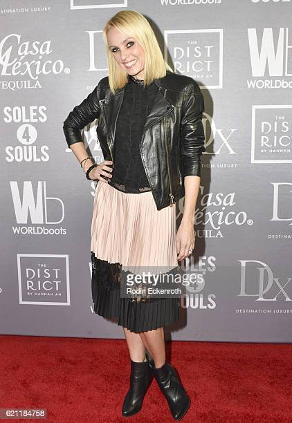 Ballroom dancer and author Camilla Dallerup attends WORLDboots official Launch Party supporting Souls 4 Soles Charity at The District by Hannah An on...