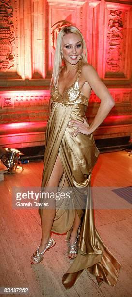 Ballroom dancer Camilla Dallerup arrives at the National Television Awards at the Royal Albert Hall October 29 2008 in London England