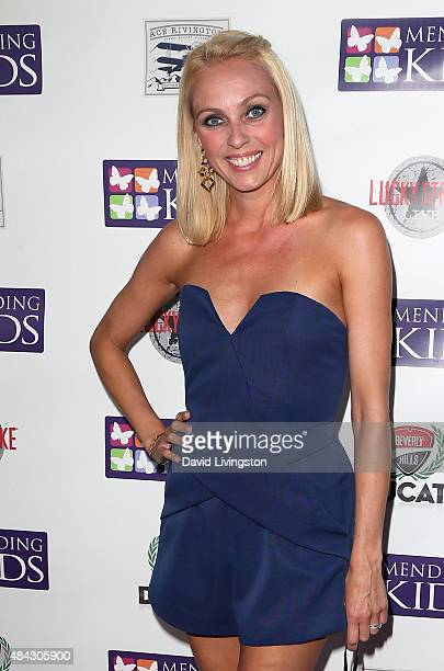 Ballroom dancer Camilla Dallerup attends the Music On A Mission benefit concert presented by Mending Kids at Lucky Strike Live on August 16 2015 in...
