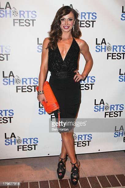 Ballroom dancer Karina Smirnoff attends the opening night of the 2013 Los Angeles International Short Film Festival at Laemmle NoHo 7 on September 5...