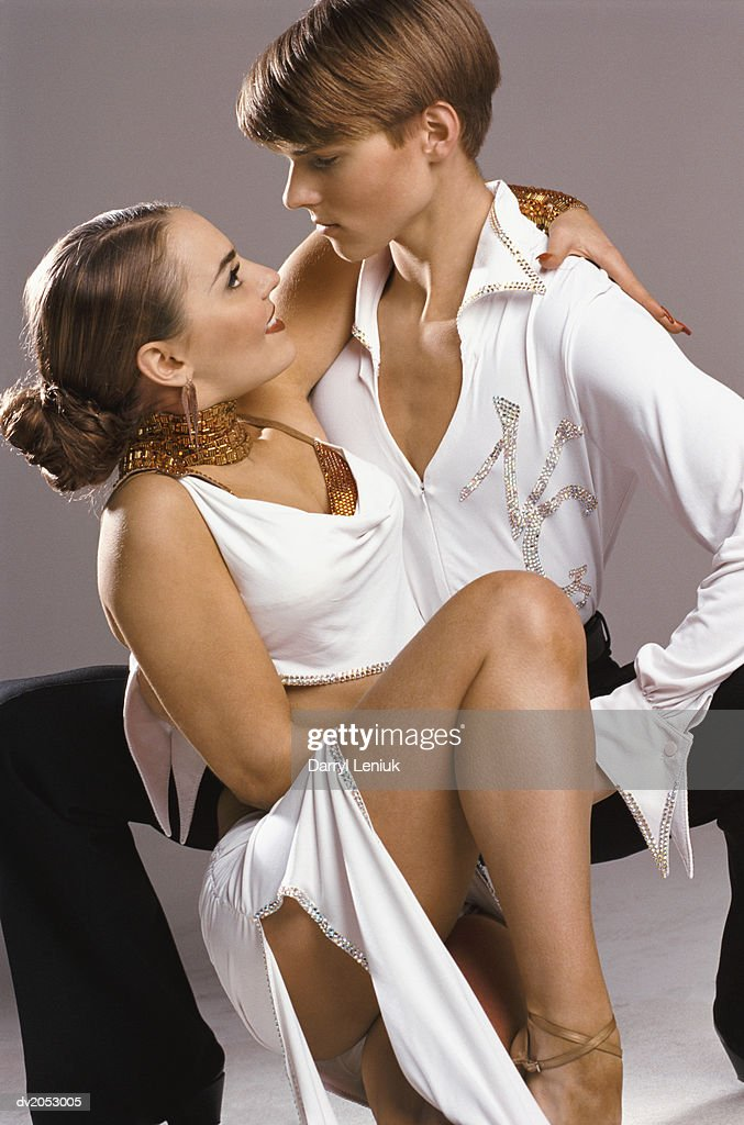 Ballroom Dancing Couple Posing Together : Stock Photo