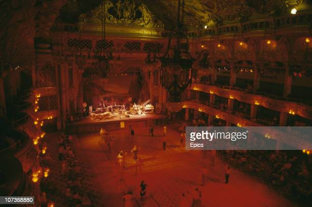 Ballroom dancing in the elaborate interior of the Tower Ballroom which opened in 1899 Blackpool Lancashire August 1983