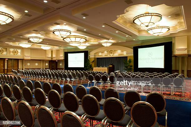 Ballroom of large hotel chain converted into a conference center
