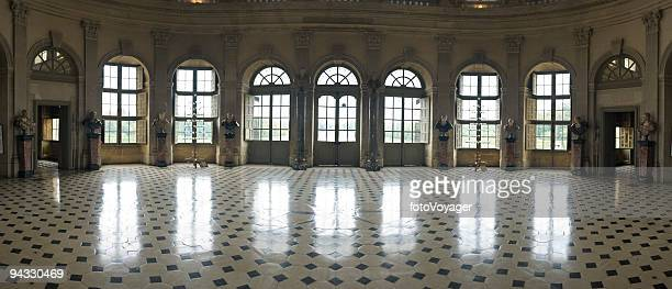 ballroom, reflected - castle stock photos and pictures