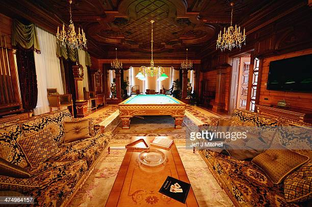 Balls are left on a billiards table in a room inside President Viktor Yanukovych's Mezhyhirya estate which was abandoned by security on February 26...