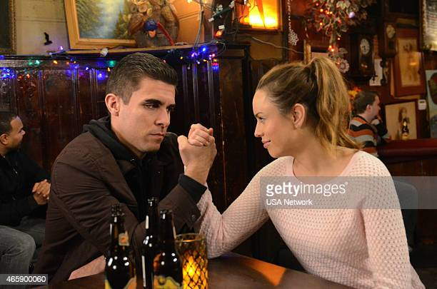 SIRENS 'Balls' Episode 210 Pictured Josh Segarra as Billy Jessica McNamee as Theresa Kelly