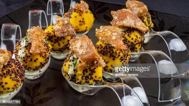 balls of potato sacked with quinoa