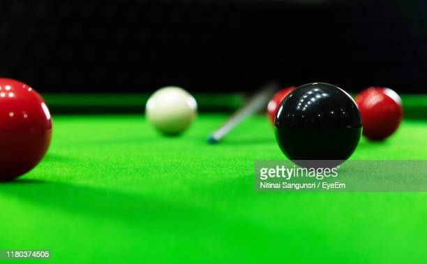 balls on pool table - competition stock pictures, royalty-free photos & images