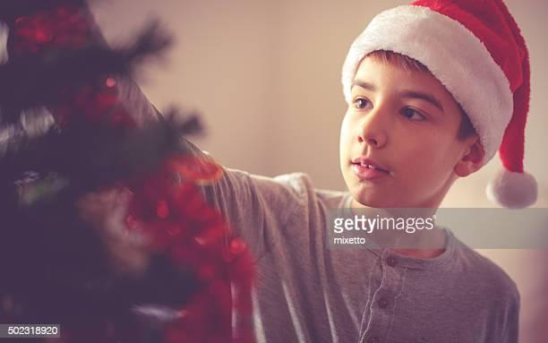 Décoration de boules de Noël rouge