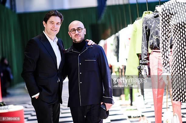 Bally CEO Frederic de Narp and Bally Design Director Pablo Coppola at the Bally Women's Autumn Winter 2016 Presentation during Milan Fashion Week on...