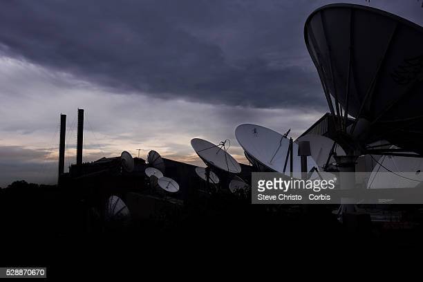 Balmain Power Station and satellite dishes. New South Wales. Sydney, Australia. Monday 13th May 2013. Photo: