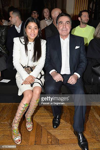Balmain president Alain Hivelin attends the Balmain show as part of the Paris Fashion Week Womenswear Fall/Winter 20142015 on February 27 2014 in...