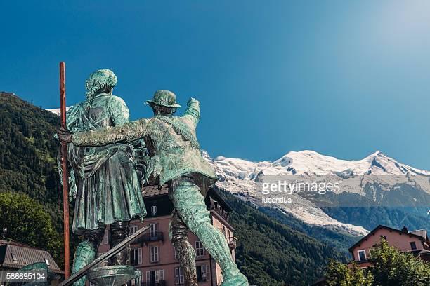 Balmat, de Saussure statue, Chamonix