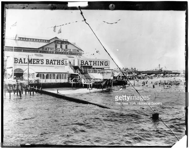 Balmer's Beach and Bathing Pavilion Brighton Beach Brooklyn New York New York 1895