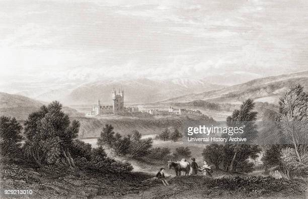 Balmoral Castle Royal Deeside Aberdeenshire Scotland in the 19th century After a 19th century print