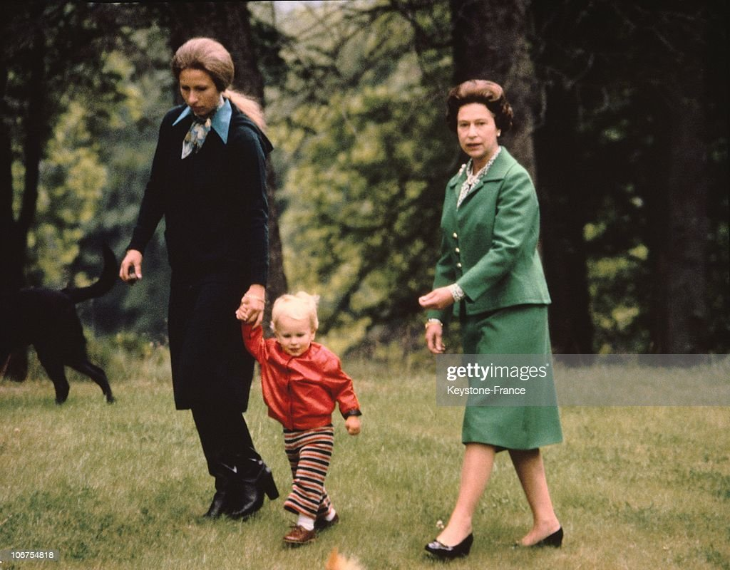 Scotland, Balmoral Castle, The Royal Family, Princess Anne And Daughter And Queen Elizabeth Ii