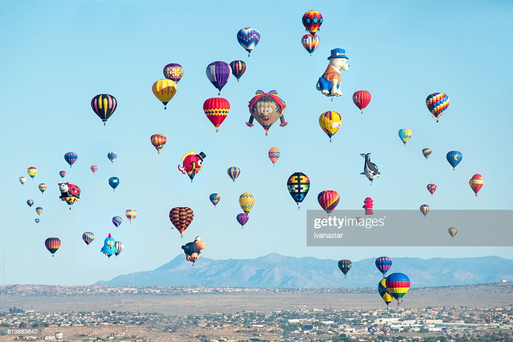 Baloon fiesta in Albuquerque, New Mexico. : Stock Photo