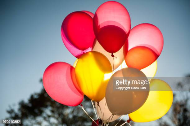 baloons - birthday balloons stock photos and pictures