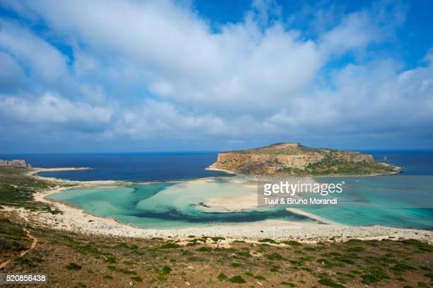 Balos bay and Gramvousa island, Gramvousa, Chania, Crete Island, Greece