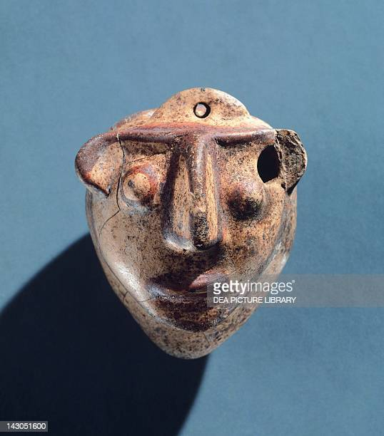 Balsam model from the Human Masks group front view EtruscanCorinthian pottery Etruscan Civilization 570550 BC Copenhagen Ny Carlsberg Glyptotek