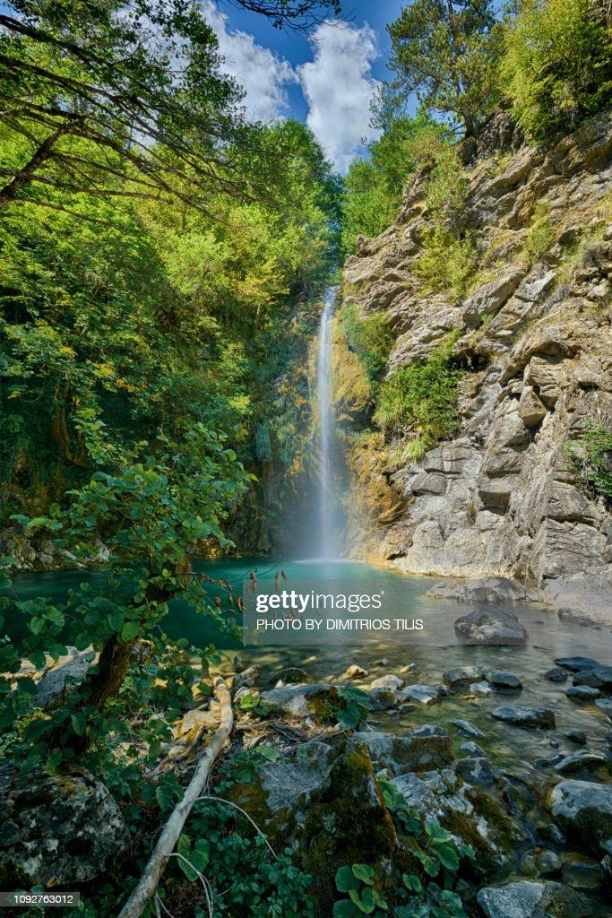 Balta di stringa big waterfall H.D.R. : Stock Photo