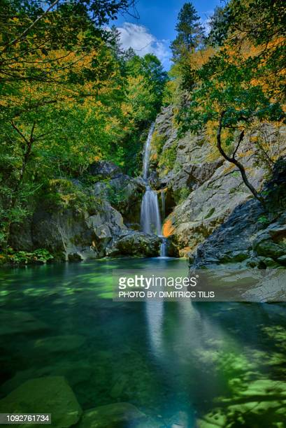 balta di stringa waterfalls h.d.r. - epirus greece stock pictures, royalty-free photos & images