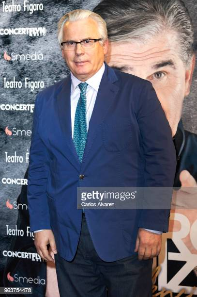 Baltasar Garzon attends 'Confidencial' premiere at the Figaro Theater on May 30, 2018 in Madrid, Spain.