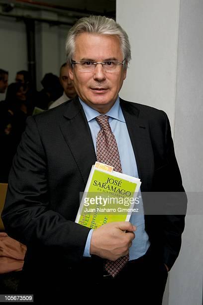 Baltasar Garzon attends Jose Saramago's tribute at Auditorio Pilar Bardem on October 18, 2010 in Rivas-Vaciamadrid, Spain.