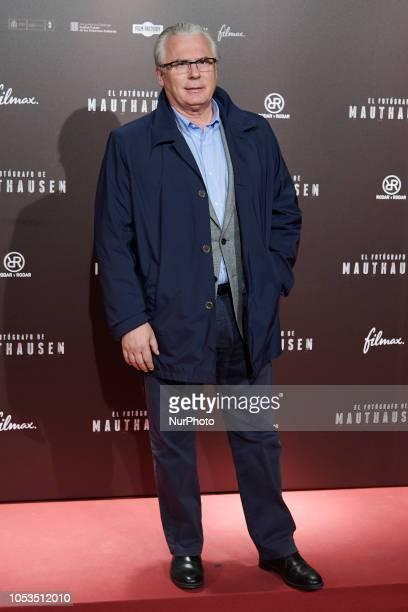 Baltasar Garzon attends the 'El Fotografo de Mauthausen' premiere photocall at Callao Cinema in Madrid on October 25, 2018