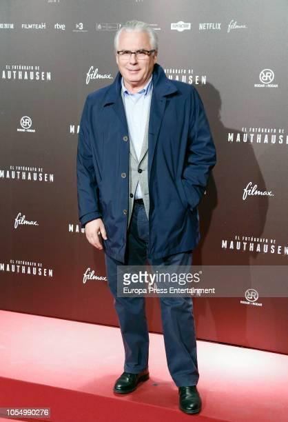Baltasar Garzon attends the Premiere 'El Fotografo de Mathausen' at the Capitol cinema on October 25, 2018 in Madrid, Spain.