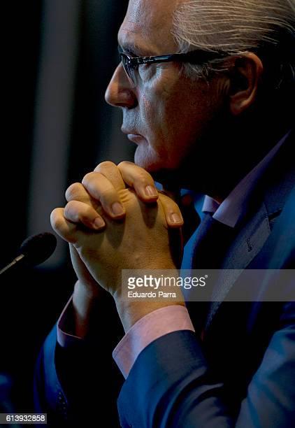 Baltasar Garzon presents his new book 'Baltasar Garzon En el punto de mira' at Circulo de Bellas Artes on October 11 2016 in Madrid Spain