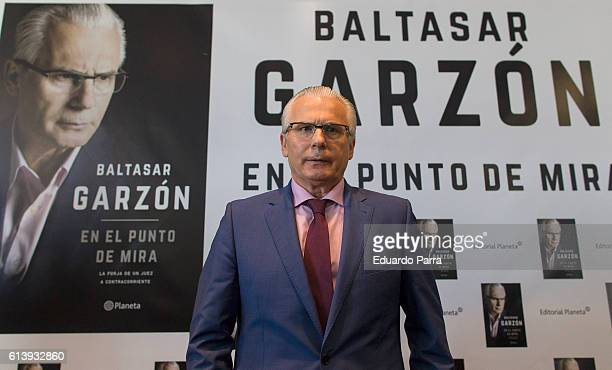 Baltasar Garzon presents his new book 'Baltasar Garzon. En el punto de mira' at Circulo de Bellas Artes on October 11, 2016 in Madrid, Spain.