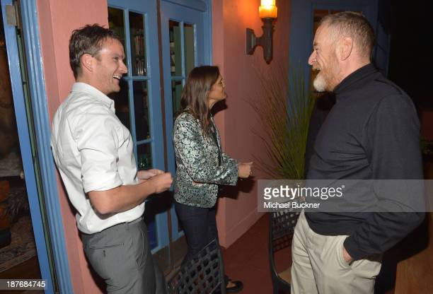 Balthazar Getty Aileen Getty and guest attend the Sabine G Jewelry Dinner at Balthazar and Rosetta Getty's home on November 8 2013 in Los Angeles...