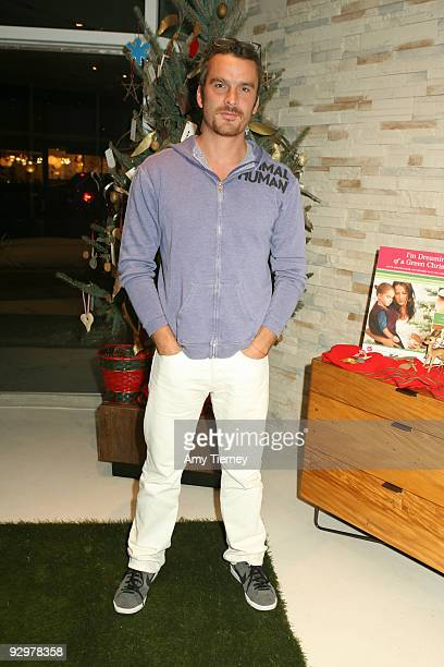 Balthazar Getty attends Anna Getty's I'm Dreaming of a Green Christmas Book Launch Party at Environment Furniture on November 10 2009 in Los Angeles...
