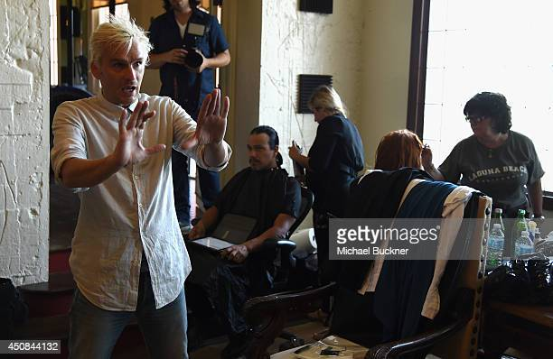 Balthazar Getty directs the music video for PurpleHaus Music's Marcando Paso from Album ABSTRAKTO on June 18 2014 in Los Angeles California