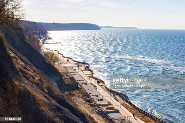 baltic sea shoreline kaliningrad april - kaliningrad stock pictures, royalty-free photos & images
