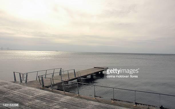 baltic sea, sweden - pontoon bridge stock pictures, royalty-free photos & images