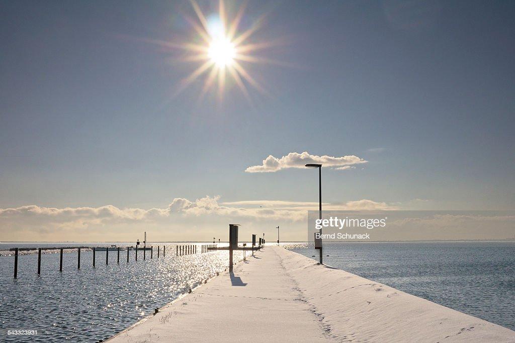 Baltic Winter Sun : Stock-Foto