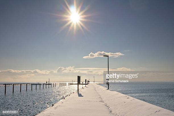 baltic winter sun - bernd schunack stockfoto's en -beelden
