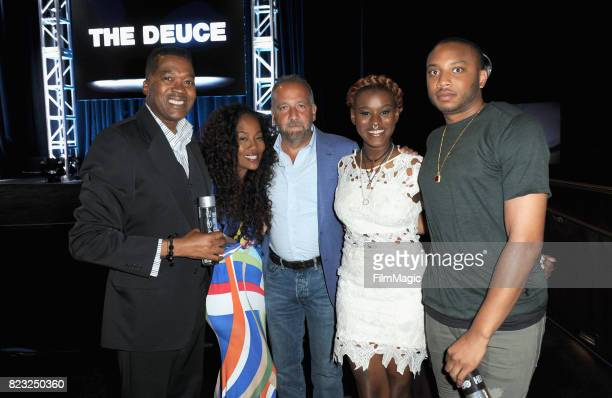 Baltimore Cheif of Police Melvin Russell director Sonja Sohn executive producer George Pelecanos activists Makayla GilliamPrice and Kwame Rose attend...