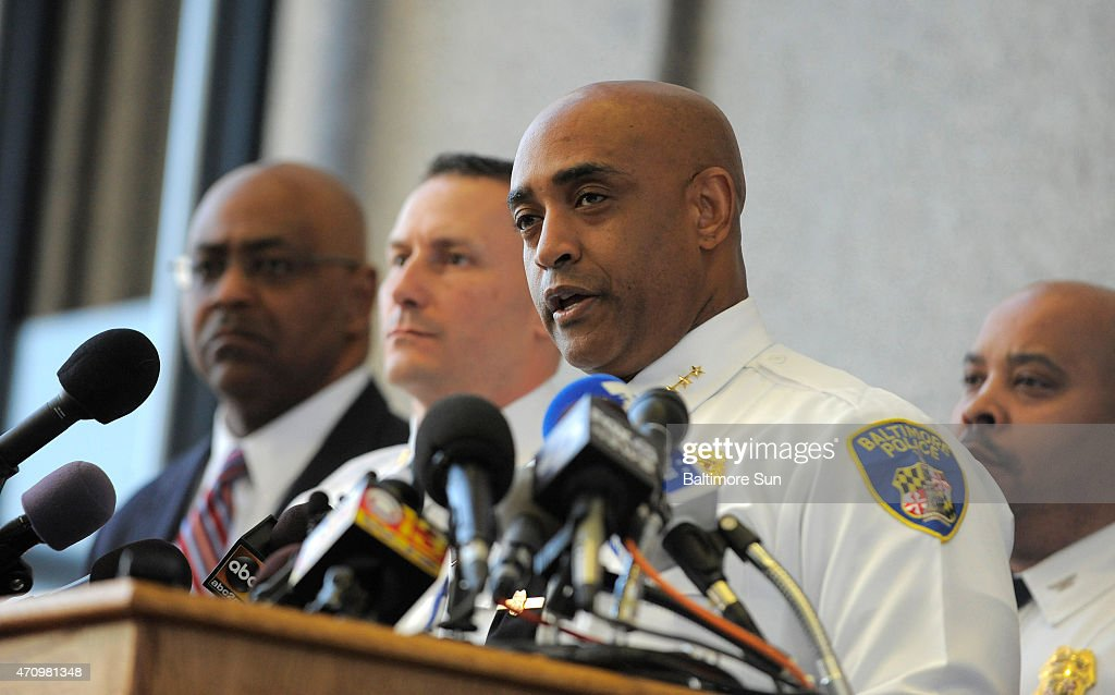 Baltimore City Police Commissioner Anthony Batts speaks at a news conference on Friday, April 24, 2015, about the death of Freddie Gray after he was taken into police custody.