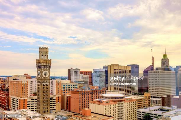 baltimore city skyline - baltimore, maryland, usa, september 2019 - メリーランド州 ボルチモア ストックフォトと画像