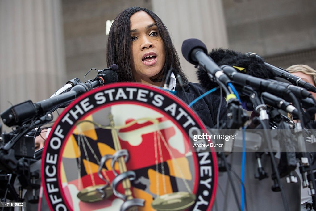 Criminal Charges Announced Against Baltimore Police Officers In Freddie Gray's Death : News Photo