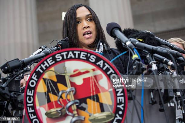 Baltimore City State's Attorney Marilyn J Mosby announces that criminal charges will be filed against Baltimore police officers in the death of...