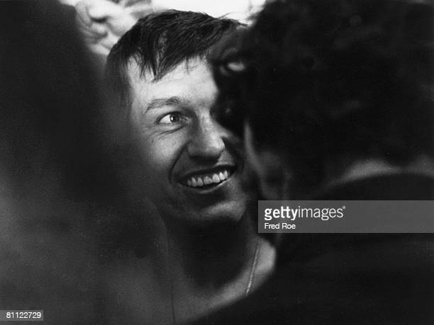 Baltimore Colts Hall of Fame quarterback Johnny Unitas in the locker room after a 1613 win over the Dallas Cowboys in Super Bowl V on January 17 1971...