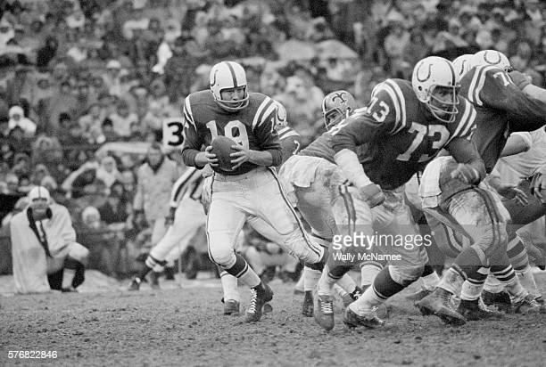 Baltimore Colts Quarterback Johnny Unitas Prepares to Pass